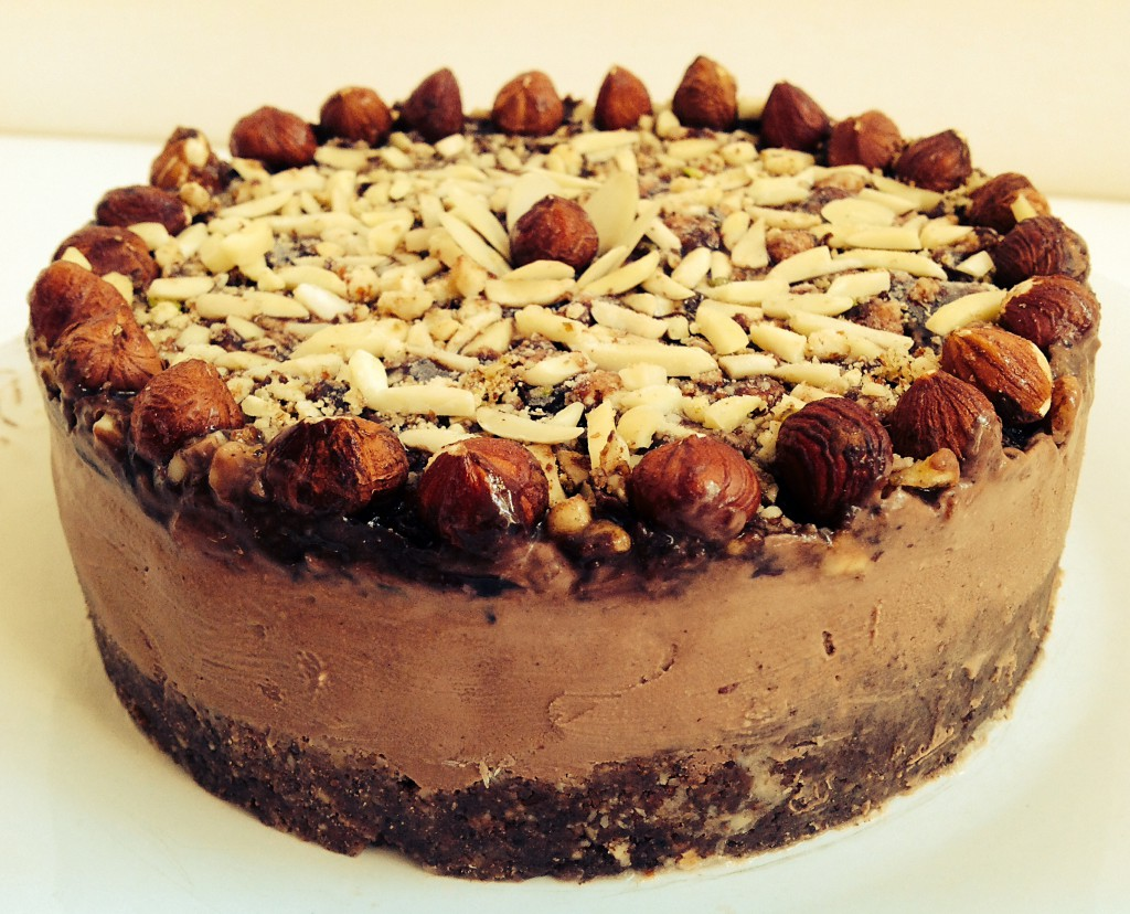 A raw nut cheesecake. Made in Berlin.