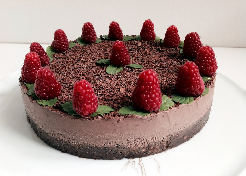 A raw black forest cheesecake made in Berlin