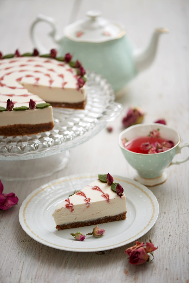 Quot Feed Me Roses Quot Raw White Chocolate Cheesecake