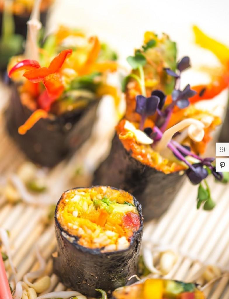 Gerichte aus dem sushi_rohkost_workshop